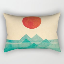 The ocean, the sea, the wave Rectangular Pillow