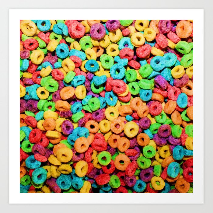 Fruit Loops Cereal Art Print By Chancecarter Society6