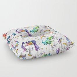 Reading Unicorn Pattern Floor Pillow