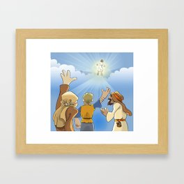 Jesus in the Clouds Framed Art Print