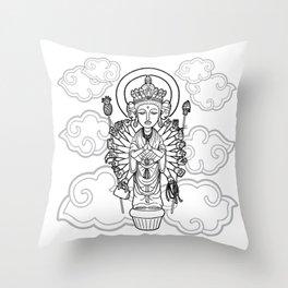 Thousand-Arm Kannon Goddess of Mercy Throw Pillow