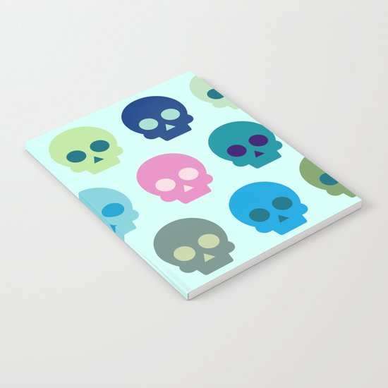 Colorful Skull Cute Pattern Notebook