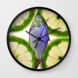 Lime Fish Wall Clock