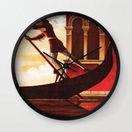 Vintage Venezia Italia Travel Wall Clock
