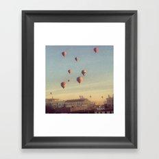 Cappadocian Hot Air Balloons Framed Art Print