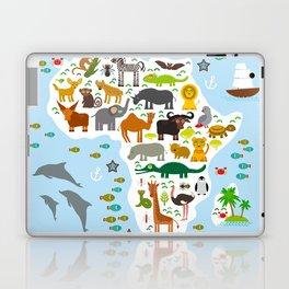 Animal Africa: parrot Hyena Rhinoceros Zebra Hippopotamus Crocodile Turtle Elephant Mamba snake Laptop & iPad Skin