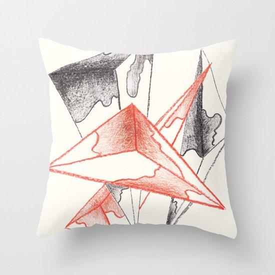 CRAYON LOVE: Monarchs Throw Pillow