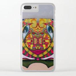 Simetria de un rostro Clear iPhone Case