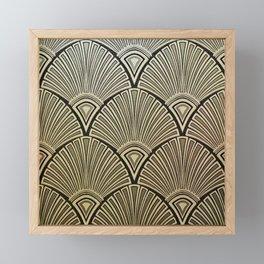 Golden Art Deco pattern Framed Mini Art Print