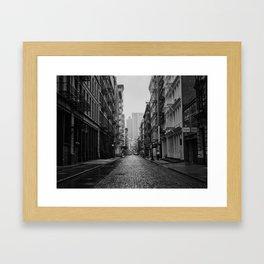 Soho Black & White Framed Art Print