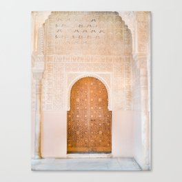 Alhambra door | Granada Spain travel photography | Bright and pastel colored photo art print Canvas Print