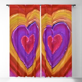 Pulsating Heart Blackout Curtain
