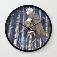 coasters Wall Clocks featuring I Can See You, Jack by k.b. doodles
