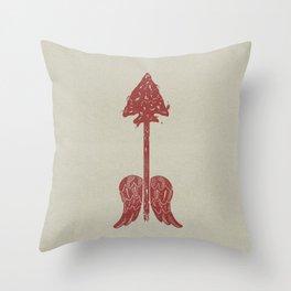 Arrow on the Doorpost Throw Pillow