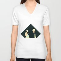 atlas V-neck T-shirts featuring CLOUD ATLAS by Itxaso Beistegui Illustrations