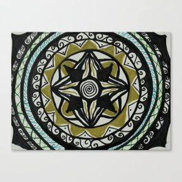 Four Golding Mandala Canvas Print