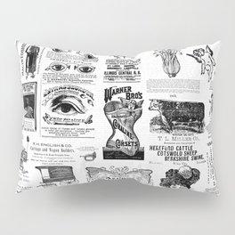 Vintage Victorian Ads Pillow Sham