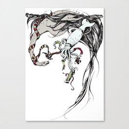 Unconventional Gifting: Plesiosaur and Cephalopod Canvas Print