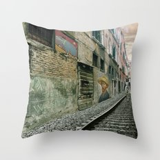 Surreal Venice Throw Pillow