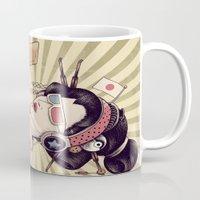 geisha Mugs featuring Geisha by Azrhon