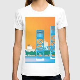 Jacksonville, Florida - Skyline Illustration by Loose Petals T-shirt
