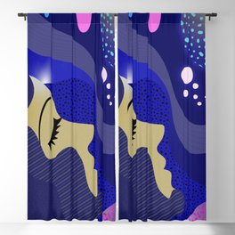 Abstract blue colorful Dream image Blackout Curtain