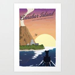 Cinnabar Island Travel Poster Art Print