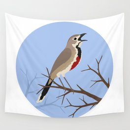 Rosy-patched Bush-shrike Wall Tapestry