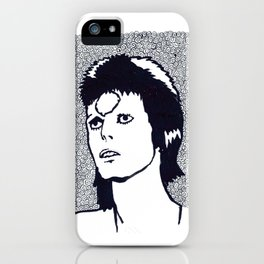 Starman, with larger white border iPhone Case