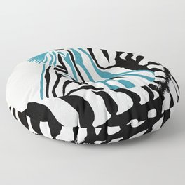 punk rock zebra Floor Pillow
