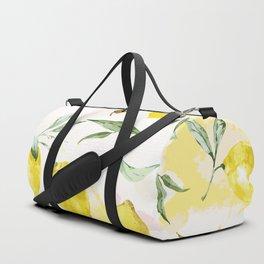 Watercolor lemons Duffle Bag