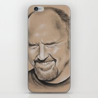 louis ck iPhone & iPod Skins featuring Louis CK by Jolene Rose Russell