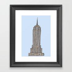 Empire State Bldg. NY Framed Art Print