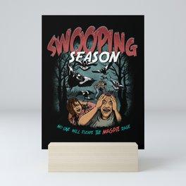 Swooping Magpie Season Mini Art Print