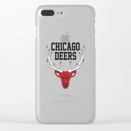 Chicago Deers Clear iPhone Case