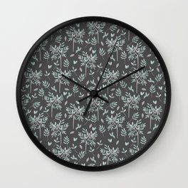 Olive - grey edition Wall Clock