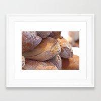 bread Framed Art Prints featuring Bread by thliii