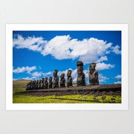 Moai Monolithics on Easter Island Art Print
