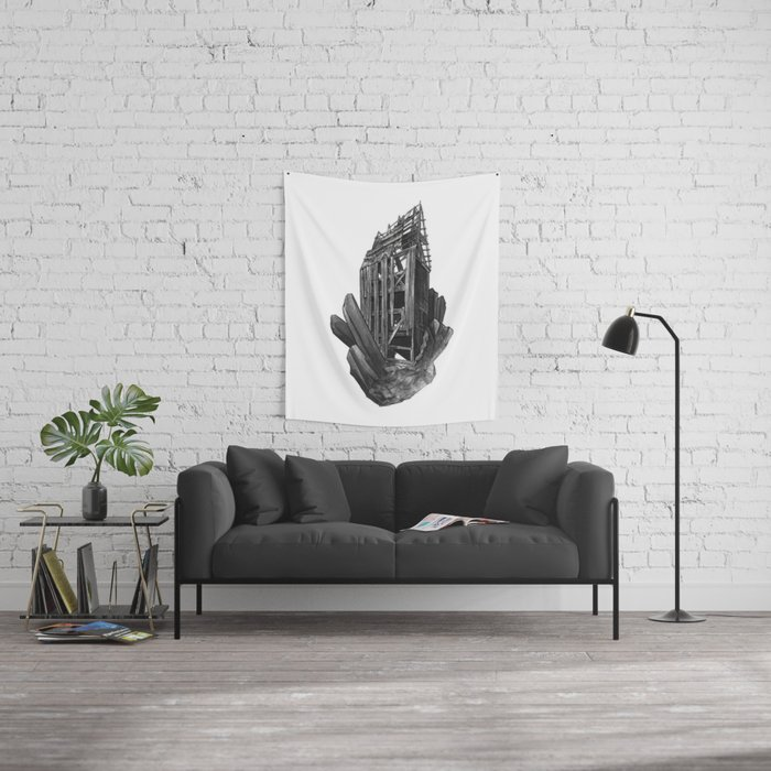 Obsidian House Wall Tapestry