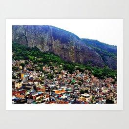 Favela Rocinha, Rio de Janeiro Brasil Art Print