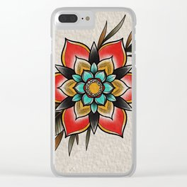 The flowers that be Clear iPhone Case