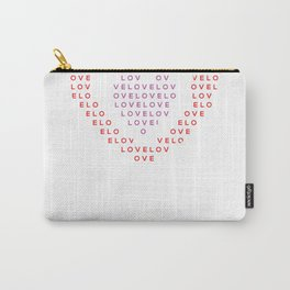 Heart shape of LOVE Carry-All Pouch
