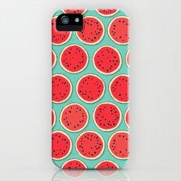 watermelon polka mint iPhone Case
