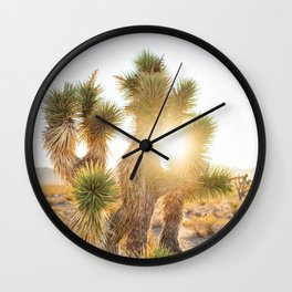Joshua Tree Sunrise Wall Clock