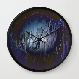 Walls in the Night - UFOs in the Sky Wall Clock