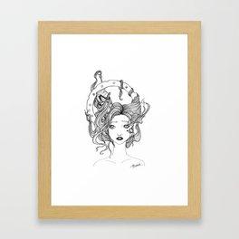 Steampunk Heart Framed Art Print