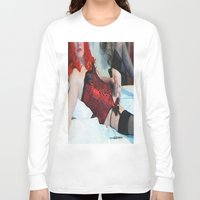penis Long Sleeve T-shirts featuring funny painting Transgender trannie BDSM fetish panty corset sex fuck penis cock dick woman man cute by Velveteen Rodent