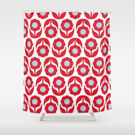 Joy collection - Red flowers Shower Curtain