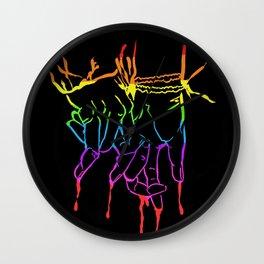 LGBTQ PDA Wall Clock