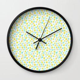 Paradise Posies Plumeria Print Wall Clock